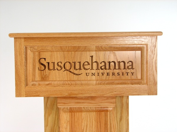 Podium with Engraved Top
