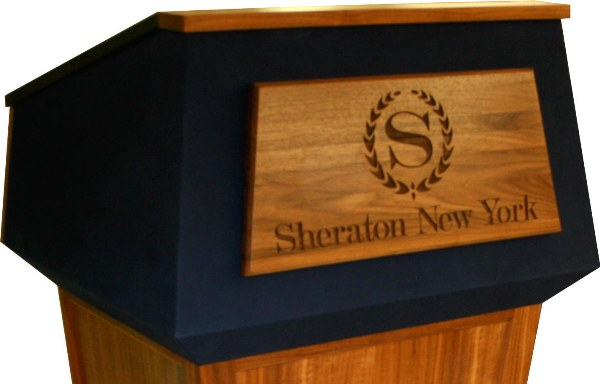 Podium with Trapezoid Engraved Seal