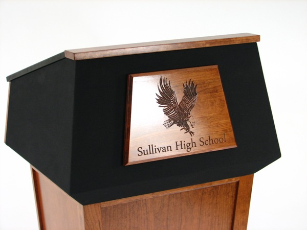 Lectern with Trapezoid Engraved Seal