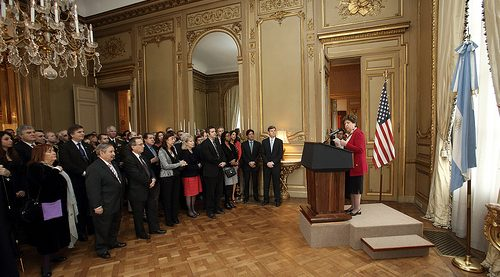 Our Presidential Lift being used in the US Embassy, Argentina.