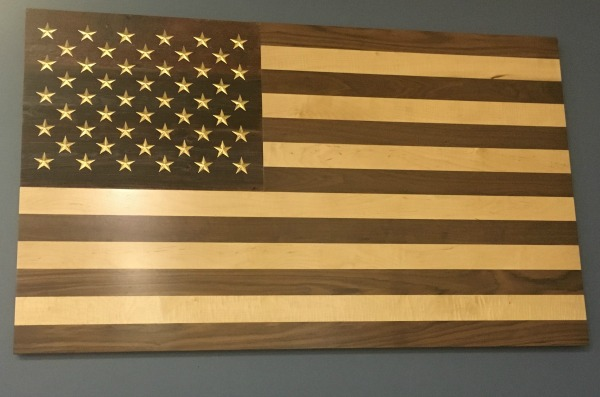 American Flag Solid Wood All American Made